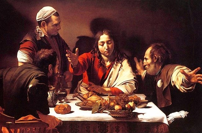 """The Supper at Emmaus"" của Caravaggio"